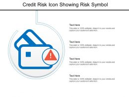 Credit Risk Icon Showing Risk Symbol