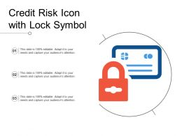 Credit Risk Icon With Lock Symbol