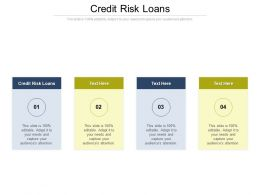 Credit Risk Loans Ppt Powerpoint Presentation Show Deck Cpb
