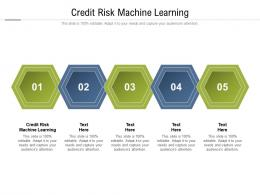 Credit Risk Machine Learning Ppt Powerpoint Presentation File Styles Cpb