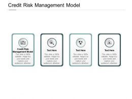 Credit Risk Management Model Ppt Powerpoint Presentation File Portrait Cpb