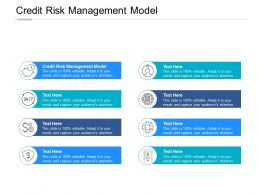 Credit Risk Management Model Ppt Powerpoint Presentation Inspiration Outline Cpb