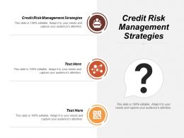 Credit Risk Management Strategies Ppt Powerpoint Presentation Icon Slides Cpb