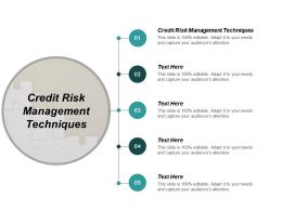Credit Risk Management Techniques Ppt Powerpoint Presentation Infographics Slideshow Cpb