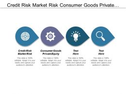 Credit Risk Market Risk Consumer Goods Private Equity Cpb