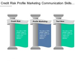 Credit Risk Profile Marketing Communication Skills Communications Skills Cpb