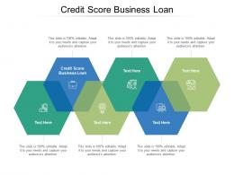 Credit Score Business Loan Ppt Powerpoint Presentation Portfolio Cpb