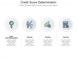 Credit Score Determination Ppt Powerpoint Presentation Gallery Themes Cpb