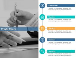 Credit Score Ppt Powerpoint Presentation Gallery Show Cpb