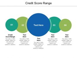 Credit Score Range Ppt Powerpoint Presentation Icon Model Cpb