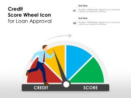 Credit Score Wheel Icon For Loan Approval