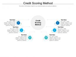 Credit Scoring Method Ppt Powerpoint Presentation Ideas Example Cpb