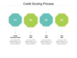 Credit Scoring Process Ppt Powerpoint Presentation Pictures Styles Cpb