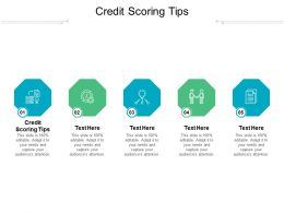 Credit Scoring Tips Ppt Powerpoint Presentation Show Skills Cpb