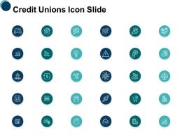Credit Unions Icon Slide Growth L203 Ppt Powerpoint Presentation Layouts