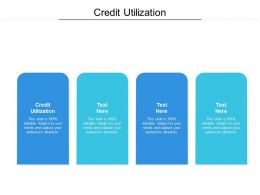 Credit Utilization Ppt Powerpoint Presentation Gallery Sample Cpb
