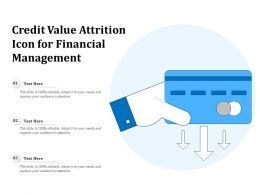 Credit Value Attrition Icon For Financial Management