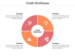 Credit Worthiness Ppt Powerpoint Presentation Gallery Icons Cpb