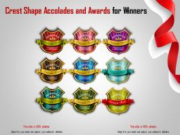 Crest Shape Accolades And Awards For Winners