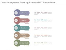 Crew Management Planning Example Ppt Presentation