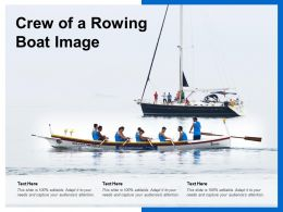 Crew Of A Rowing Boat Image