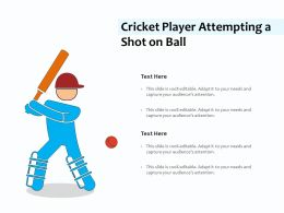 Cricket Player Attempting A Shot On Ball
