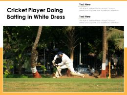 Cricket Player Doing Batting In White Dress