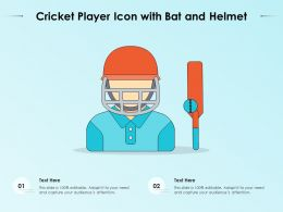 Cricket Player Icon With Bat And Helmet