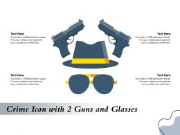 Crime Icon With 2 Guns And Glasses