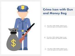 Crime Icon With Gun And Money Bag