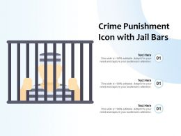 Crime Punishment Icon With Jail Bars