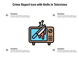 Crime Report Icon With Knife In Television