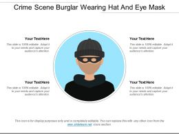 Crime Scene Burglar Wearing Hat And Eye Mask