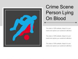 Crime Scene Person Lying On Blood