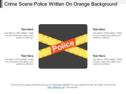 Crime Scene Police Written On Orange Background