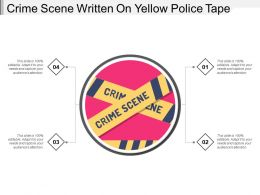 Crime Scene Written On Yellow Police Tape
