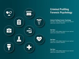Criminal Profiling Forensic Psychology Ppt Powerpoint Presentation Infographic Template