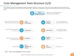 Crisis Capability Crisis Management Team Structure Overall Leadership Ppt Visual Aids