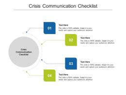 Crisis Communication Checklist Ppt Powerpoint Presentation Model Examples Cpb