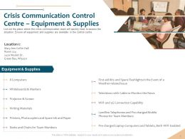Crisis Communication Control Centre Writing Materials Ppt Powerpoint Layouts