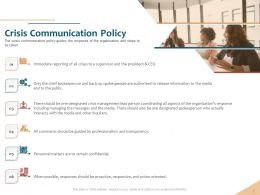 Crisis Communication Policy Release Information Ppt Powerpoint Show