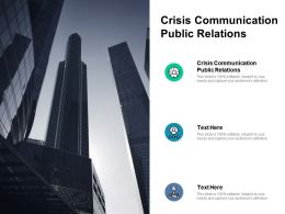 Crisis Communication Public Relations Ppt Powerpoint Presentation Inspiration Professional Cpb