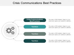 Crisis Communications Best Practices Ppt Powerpoint Presentation Model Topics Cpb