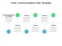 Crisis Communications Plan Template Ppt Powerpoint Presentation Model Show Cpb