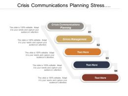 Crisis Communications Planning Stress Management Sales Strategy Layout Merger Acquisitions
