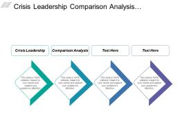 Crisis Leadership Comparison Analysis Leadership Development Channel Management Cpb
