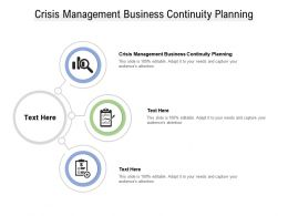 Crisis Management Business Continuity Planning Ppt Powerpoint Presentation Cpb