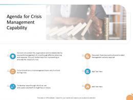 Crisis Management Capability Agenda For Crisis Management Capability Actions Ppts Icons