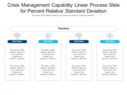 Crisis Management Capability Linear Process Slide For Percent Relative Standard Deviation Infographic Template