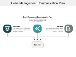 Crisis Management Communication Plan Ppt Powerpoint Presentation Model Display Cpb